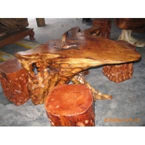 艺术根雕 根雕收藏 神像 桌椅