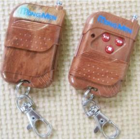 红门430.5带丝印金桃木外壳三键无线遥控器