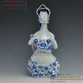 景德镇陶瓷器 雕塑人物瓷 《乡情》摆件 家居