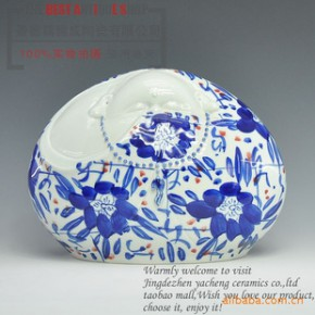 景德镇陶瓷器 雕塑人物瓷 《开心佛》摆件 家居