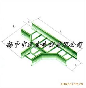 热镀锌梯级式水平三通 梯式桥架