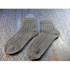批发供应外贸女式棉麻混合网眼袜