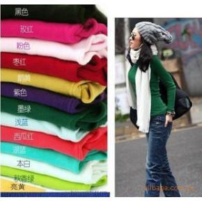 2010女装秋冬新品 韩版保暖优质高领修身打底衫(玫红暂缺)