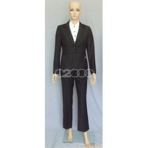 时尚韩版修身钻扣毛超短小西装 职业装 行政装 办公