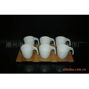 大量强化瓷咖啡杯碟 雅元
