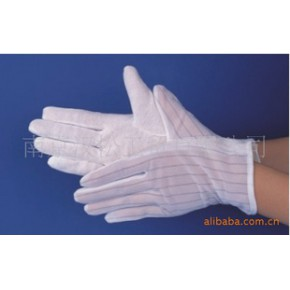 防静电点塑手套,防静电条纹手套