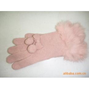 带毛口127兔毛占显气质手套