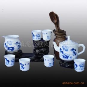 【和为贵】青花瓷 秞中彩 8头茶具 骨瓷茶具套装