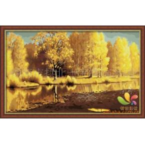 批发加盟/DIY数字油画/手绘画/装饰画/西林河畔50x80cm