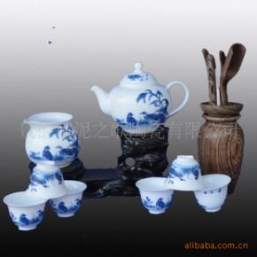 【青花鹌鹑】青花瓷 秞中彩 8头茶具 骨瓷茶具套装