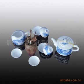 【青花山水】青花瓷釉中彩茶具 功夫茶具 礼盒包装
