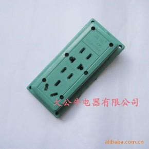插座排插  绿九孔   接线长度可根据客户需求定做