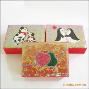 订做 批发供应 珠绣 爱心 化妆盒 首饰盒 礼盒