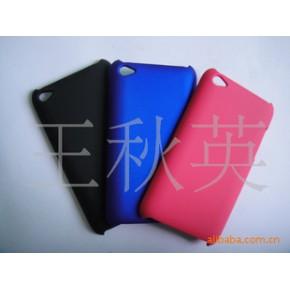 :苹果TOUCH 4单底喷皮革手感油保护壳