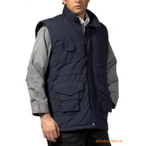 定做100%P防水保暖夹棉多袋防护背心