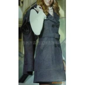 杰杰2010新款秋冬装韩版时尚款羊绒连衣裙