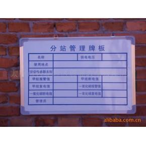 分站管理版板 永久不管理牌板  入井人数公示栏