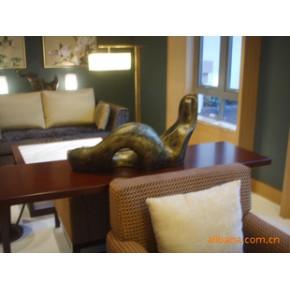 树脂仿青铜雕塑 家居酒店摆设用品