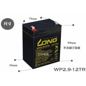 LONG WP2.9-12TR 12V 2.9AhA电池