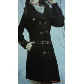 杰杰韩版2010冬装收腰修身羊绒大衣