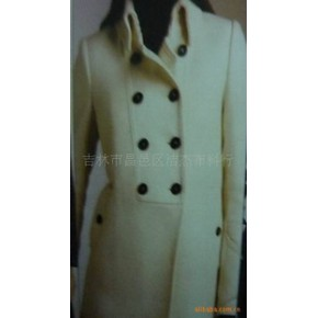 杰杰2010新款休闲大衣羊绒大衣