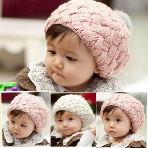 韩国儿童帽子 秋冬季婴儿帽子 菠萝帽