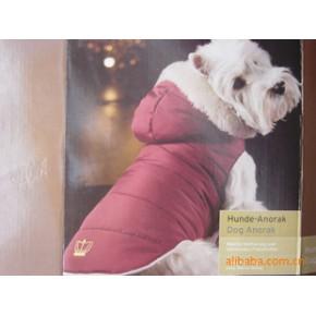 宠物用品 欧单有帽可脱卸 毛帽口 均码宠物棉衣 狗狗衣服加厚