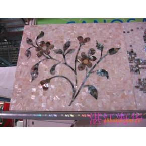 纯天然贝壳马赛克各种拼图,贝壳拼花装饰板()