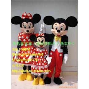 米老鼠家庭套装热卖可零售,卡通服装、卡通人偶