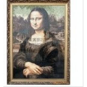大理石马赛克拼图 艺术画 (蒙娜丽莎) 做工精细