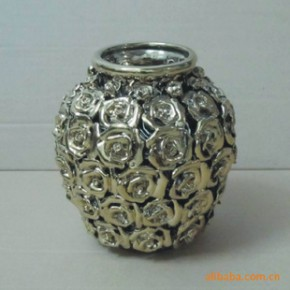 鸿祥陶瓷新上市GJ001-s-1.10寸手工银色万花花瓶