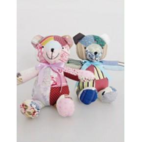 布娃娃,娃娃的爱! 手工拼布玩具熊