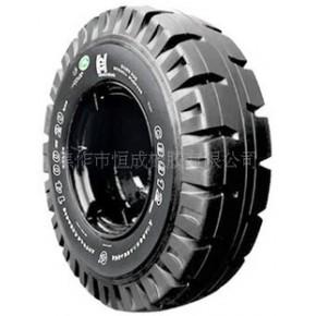 恒成牌斜八角花纹14.00-20规格实芯轮胎