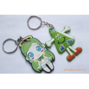 卡通女孩钥匙扣,pvc软胶钥匙扣