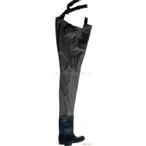 【】供应PVC夹网布 耐油 黑色下水裤