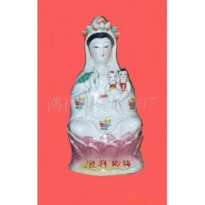 新上市鸿祥陶瓷12寸14寸16寸财神观音关公佛像