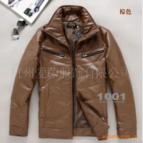 MF6301男式韩版型男气质保暖加棉水洗皮质棉衣