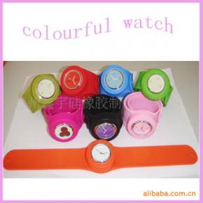 【】时尚硅胶手表/啪啪手表/卷尺手表