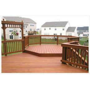 优质户外专用木塑地板  塑木园林地板青岛泰旭木业