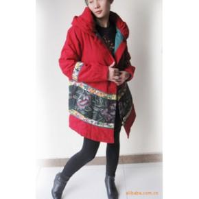 2011秋冬 批发 爆款 中式女装改良刺绣斗篷棉衣10553