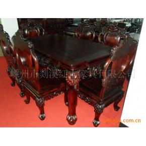 红酸枝七件套餐桌 桌子 实木