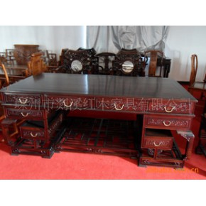 红酸枝写字台 桌子 实木