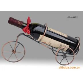 铁线工艺制品单车形仿古铜酒架.适用于家庭..办公室.各种公共场合