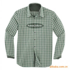 定做小苏格兰格仔全棉休闲时尚长袖衬衣