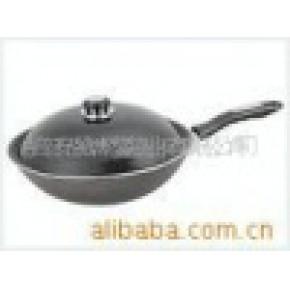 坚实耐用、受热均匀、易清洁、节能.铁锅.炒锅