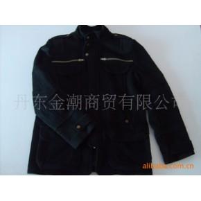 韩版男士冬季羊绒立领夹克衫