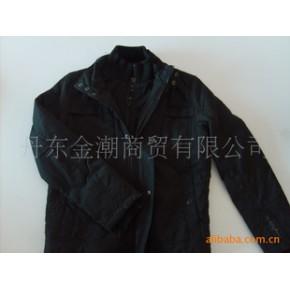 韩版男士梭织双拉链棉衣夹克衫