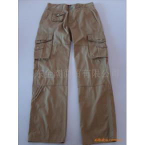 韩版男女通用款多兜微喇长裤