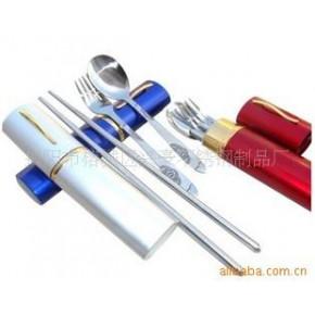 铝盒三件套,不锈钢餐具,便携餐具,礼品餐具