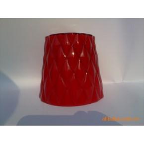 红色玻璃灯罩 玻璃 欧式